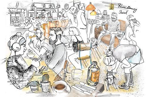 Cafe Social Print