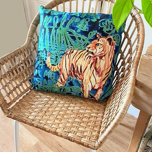 Tiger Print Cushion.