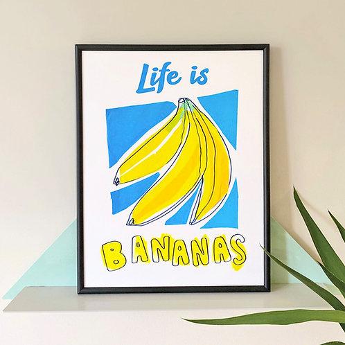 No Drama Banana Print