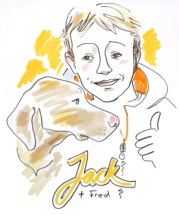 Hand Drawn Portrait with Favourite Pet