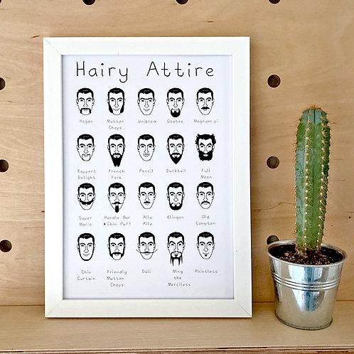 Hairy Attire Print - A History Of The Tache & Beard