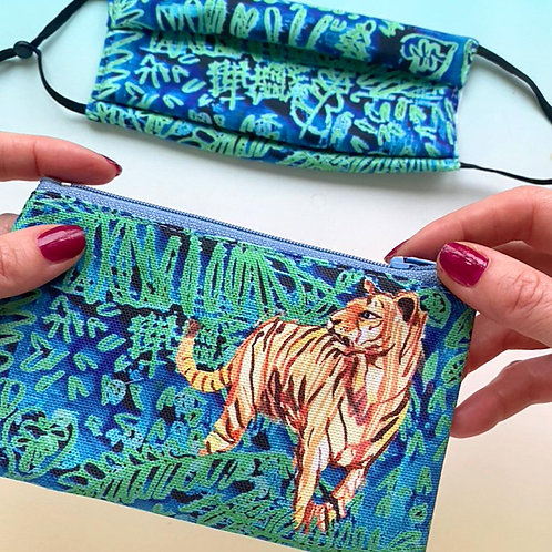 It's a Jungle out there Purse & Mask