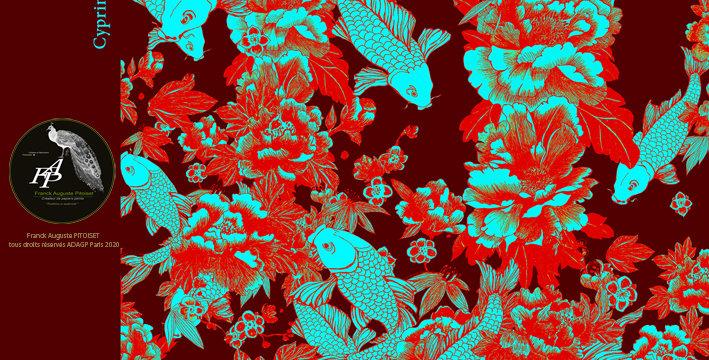 collection cabinet d'estampes  cyprinus carpiolux  purpura  franck auguste PITOI