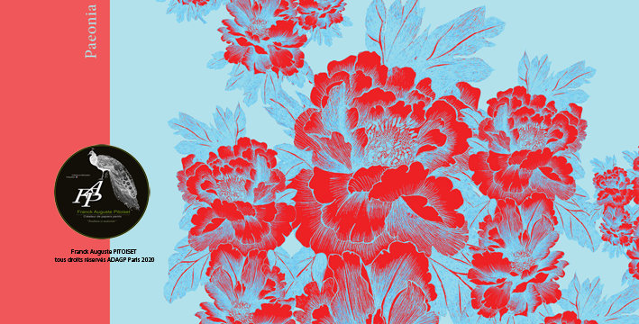 collection cabinet d'estampes paeonia lactiflora cyaneus franck auguste PITOISET