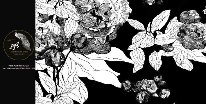 collection Florale paonia nigrum franck auguste PITOISET