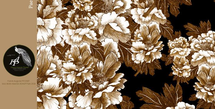 collection cabinet d'estampes paeonia lactiflora orus franck auguste PITOISET
