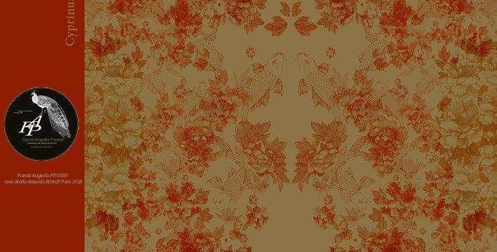 collection cabinet d'estampes  cyprinus carpio caramelus  franck auguste PITOISE