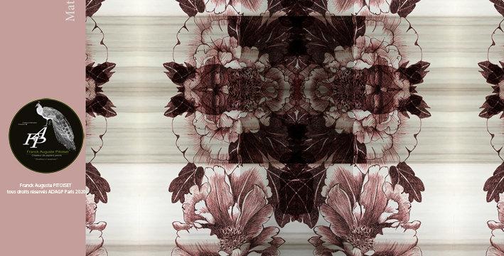 collection materia paeonia rubea franck auguste PITOISET
