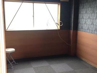 糸島市店舗クロス・タイルカーペット貼工事