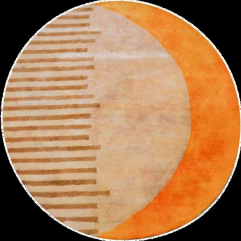Round Handmade rug