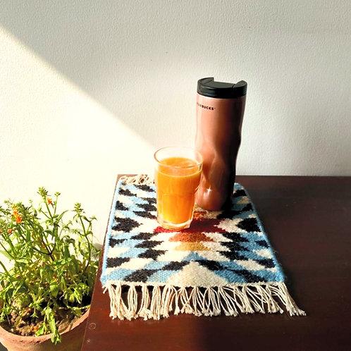 Cerulean Mug Rug