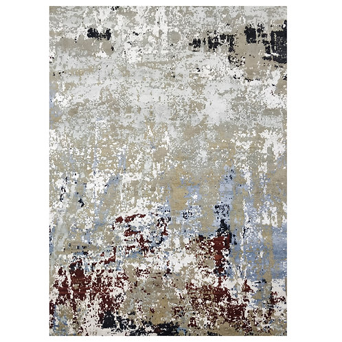 RED AND BLUE CONTEMPORARY RUG