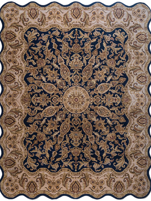 Traditional Hand-knotted Blue Rug