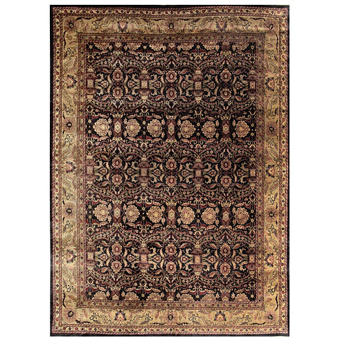 BROWN TRADITIONAL HAND KNOTTED RUG