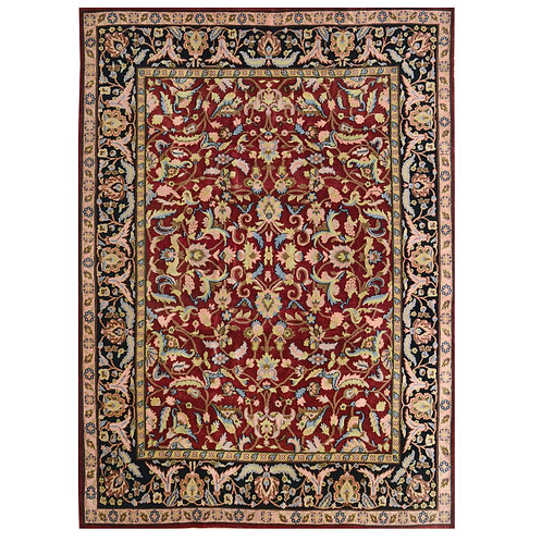 RED HANDMADE FINE QUALITY RUG