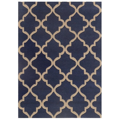 ROYAL BLUE MODERN RUG