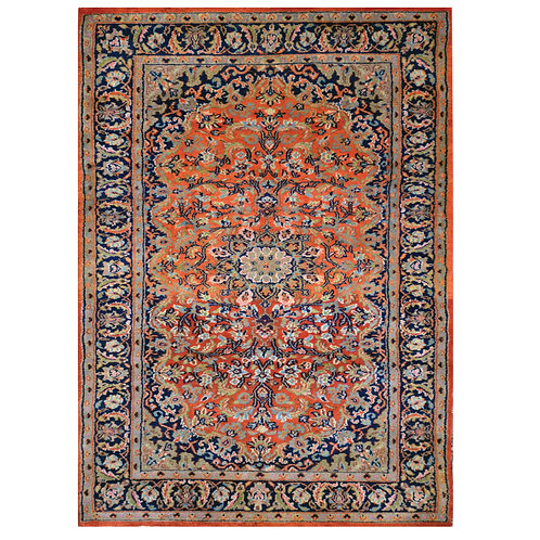 ORANGE TRADITIONAL HANDMADE RUG