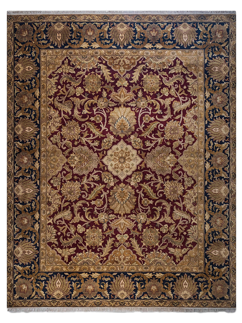 Traditional Hand-knotted Red Rug