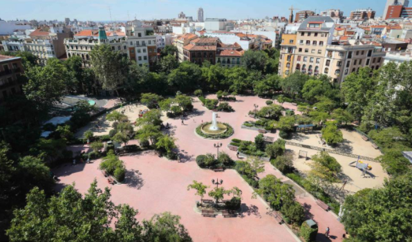 Plaza de Olavide from above