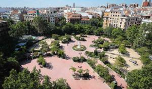 Plaza de Olavide from above