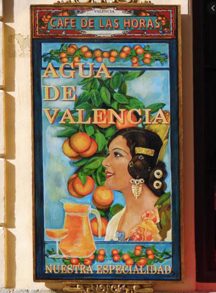 Old poster for Agua de Valencia