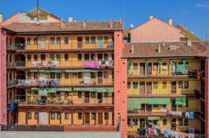 Colourful Corralas (Exterior walkways) - Calle Meson de Paredes