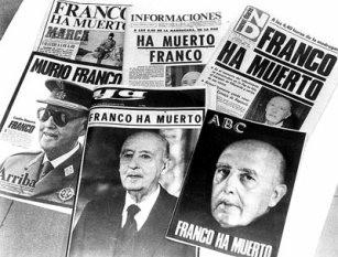Franco has died - Newspaper headlines