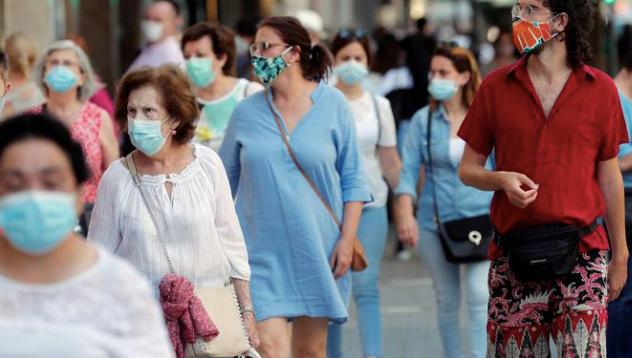 public wearing masks on the street