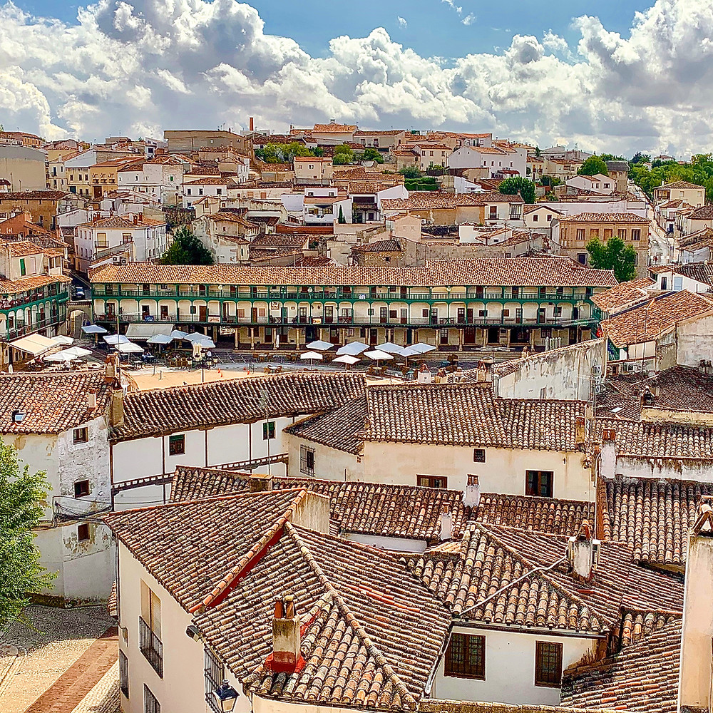 Views across Chinchón & its Plaza Mayor