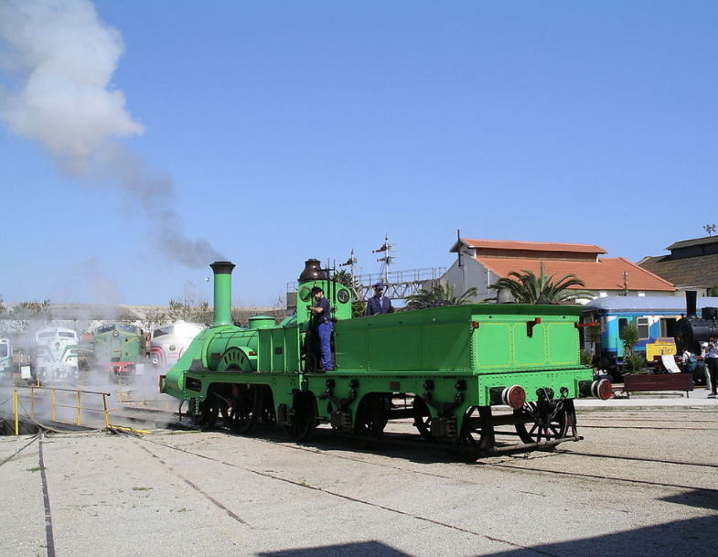 Replica of First locomotive in the Iberian Peninsula to serve the first line (Barcelona-Mataró).