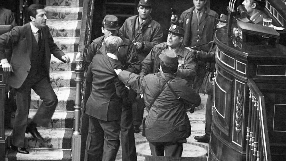 Attempted military coup in Spanish parliament 1981