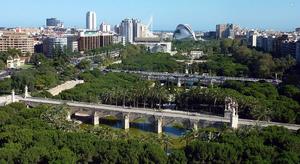 View of the Turia Gardens