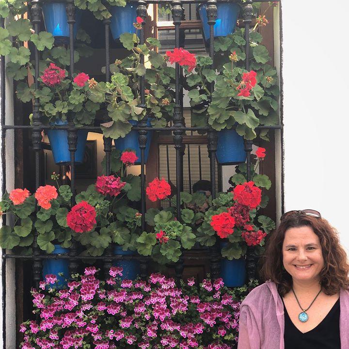 Karen Rosenblum at the Fiesta de los Patios in Cordoba