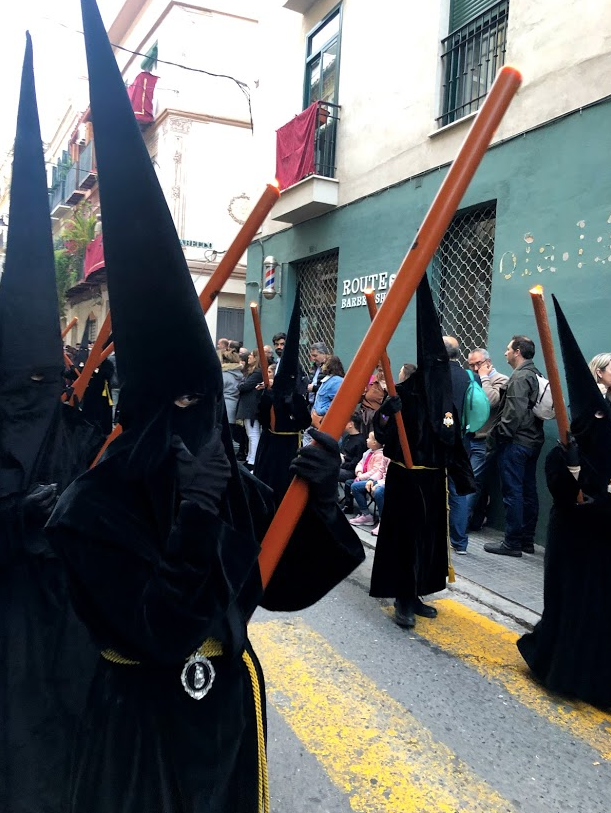 Penitentes wearing the ´capirote´ hood