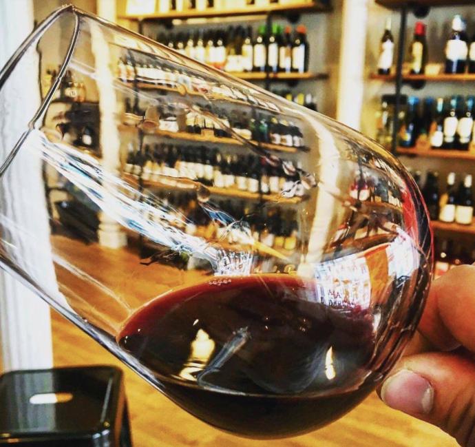 Wine glass at Madrid & Darracott
