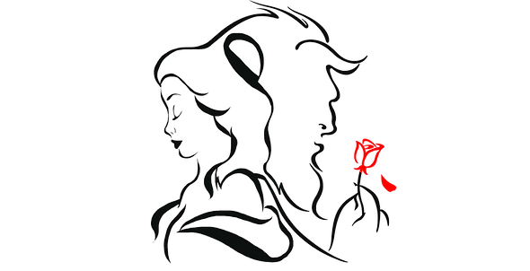 beauty-and-the-beast-flower-drawing-beau