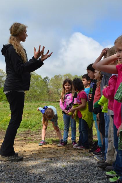Megan leading a Tour