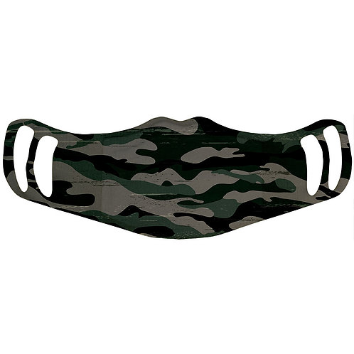3-Layer Camo Polyester Face Mask
