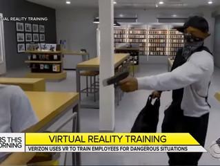 店家被歹徒攻擊或搶劫的狀況頻繁,「Verizon」利用VR訓練員工自保