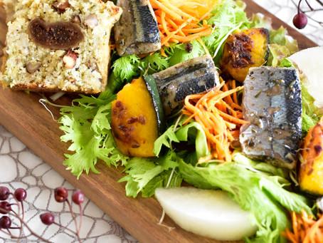 秋刀魚のコンフィのサラダ仕立て