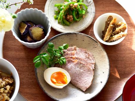 煮豚煮卵、肉味噌レッスン、クスパにてご予約お受けします