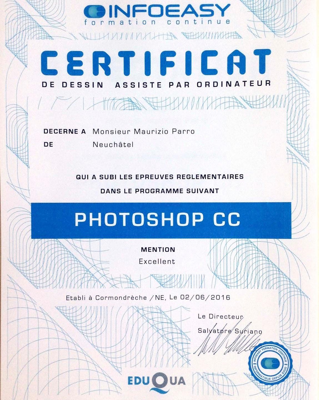 Certificat Photoshop