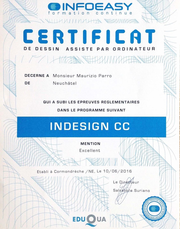 Certificat InDesignCC