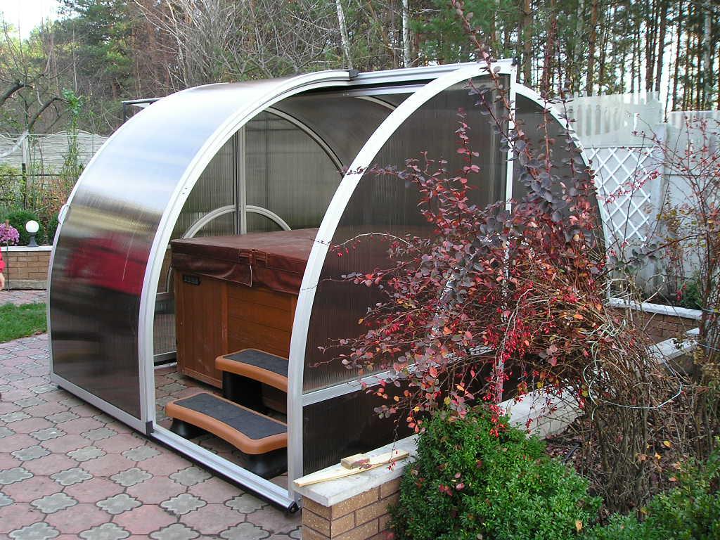 поликарбонатный павильон для спа бассейна