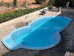 композитный голубой бассейн Балатон 8 м.