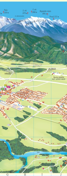 Lesce - Radovljica, mestni načrt