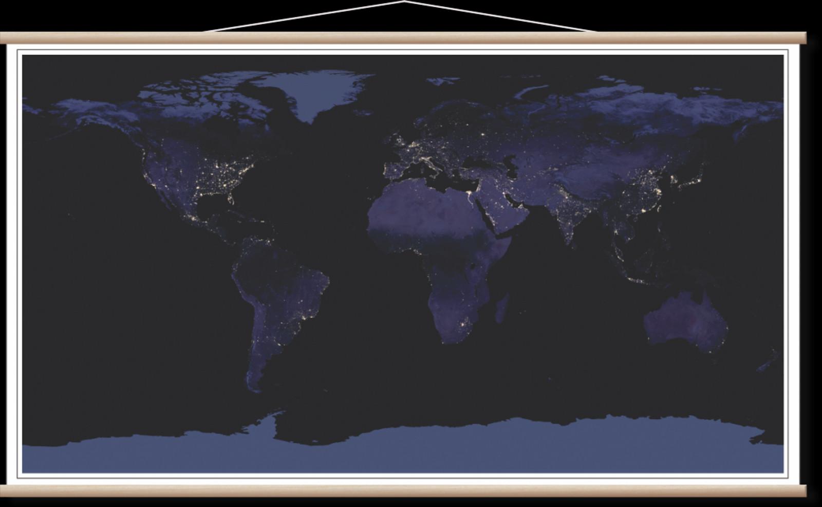 Nocna Satelitska Karta Sveta