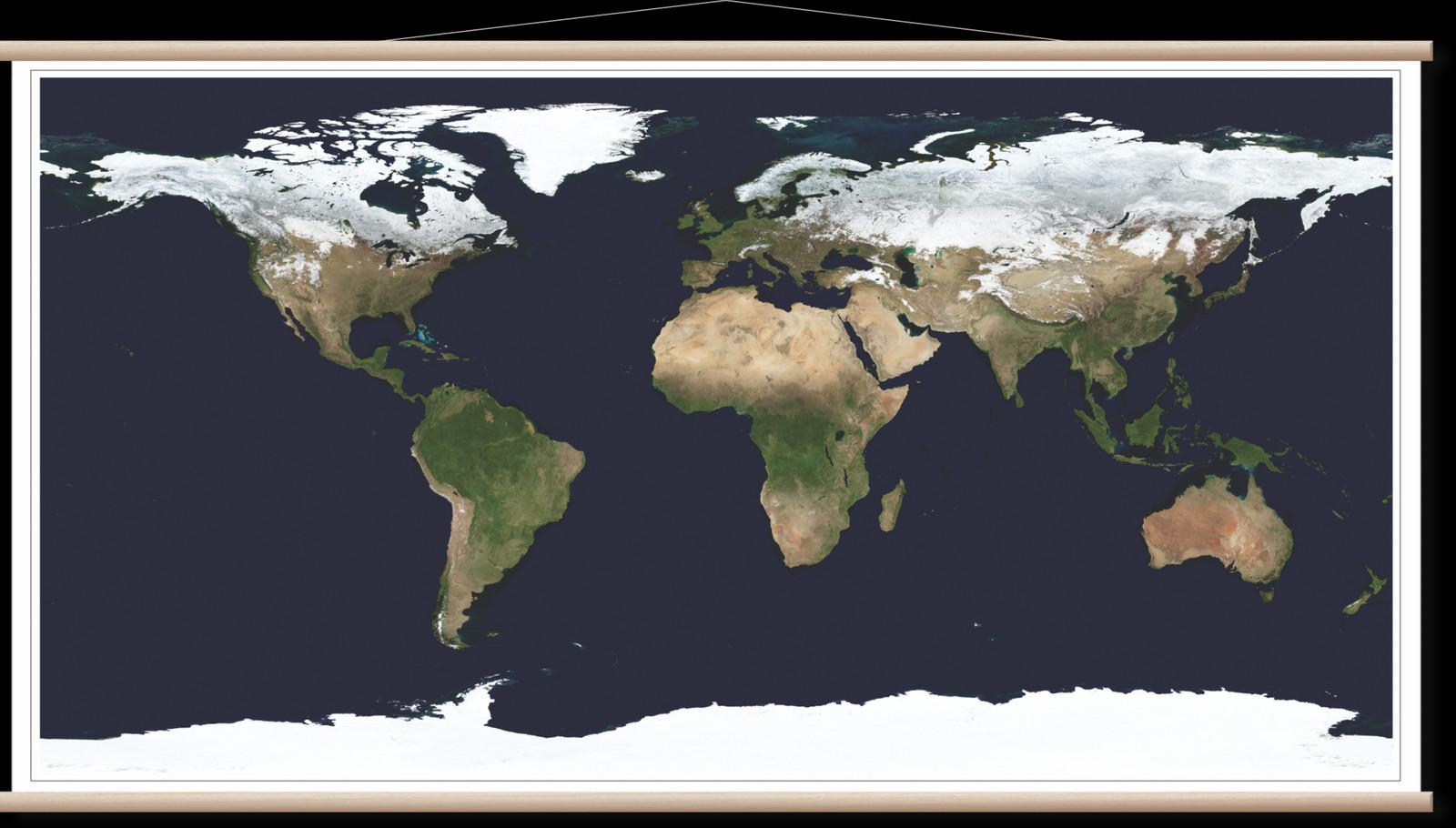 Satelitska Karta Sveta Nasa
