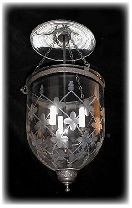 Country French Lattice Bell Jar