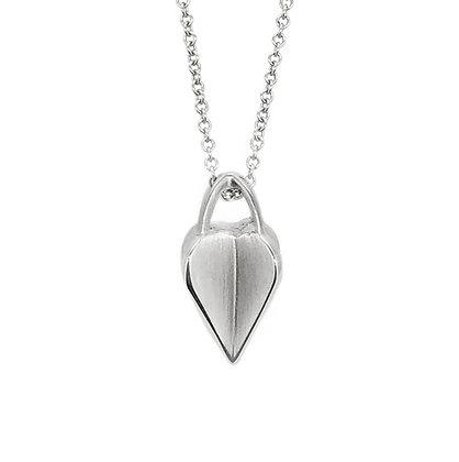 Silver Crossed Heart Pendant